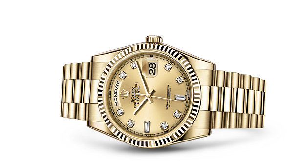 Rolex day date 36 watch 18 ct yellow gold 118238 for Rolex day date 36